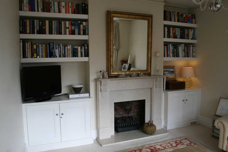 Fitted Alcove Units Bespoke Carpentry  Walton, Weybridge, Claygate