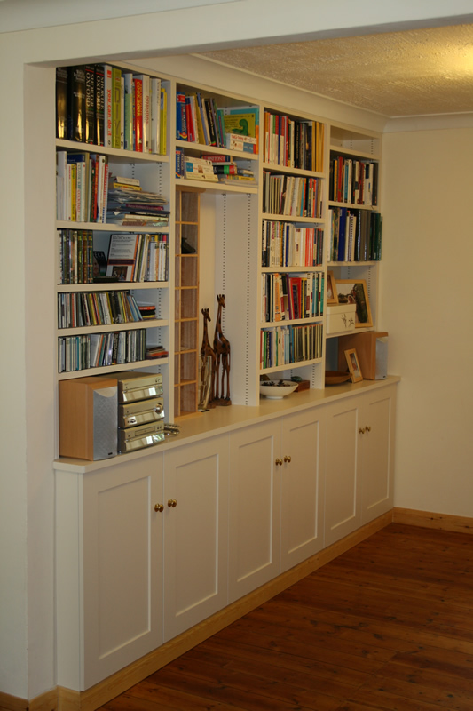Do It Yourself Home Design: Fitted Shelving Office Study